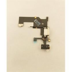 iPhone 5 Dobíjecí + Audio Konektor - Flex Kabel White