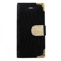 iPhone 5/5S Folio Flowar Carved Black Gold Pouzdro (EU Blister)