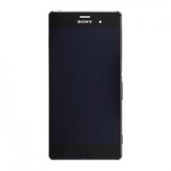 LCD Display + Dotyková Deska + Přední Kryt Black Sony D6603 Xperia Z3 (Service Pack)