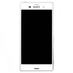 LCD Display + Dotyková Deska + Přední Kryt White Sony D6603 Xperia Z3 (Service Pack)