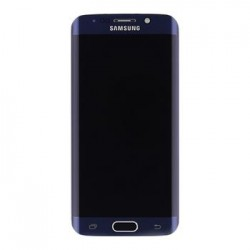 LCD display + Dotyk + Přední kryt Samsung G925 Galaxy S6 Edge Black (Service Pack)