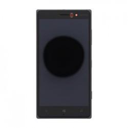 LCD Display + Dotyková Deska + Přední Kryt Dark Grey pro Nokia 830 Lumia