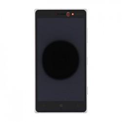 LCD Display + Dotyková Deska + Přední Kryt Silver pro Nokia 830 Lumia