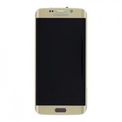 LCD display + Dotyk + Přední kryt Samsung G925 Galaxy S6 Edge Gold (Service Pack)