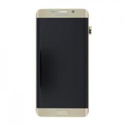 LCD display + Dotyk + Přední kryt Samsung G928 Galaxy S6 Edge Plus Gold (Service Pack)
