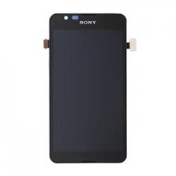 LCD Display + Dotyková Deska + Kompletní Kryt Black Sony Xperia E4g (Service Pack)