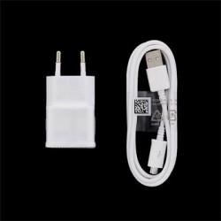 EP-TA10EWE + ECB-DU4AWE Samsung microUSB Cestovní dobíječ White (Bulk)