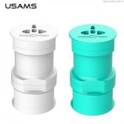 USAMS Multi Socket Universal Dobíjecí Adapter Cyan (EU Blister)