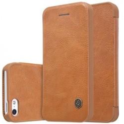 Nillkin Qin Book Pouzdro Brown pro iPhone 5/5S/SE
