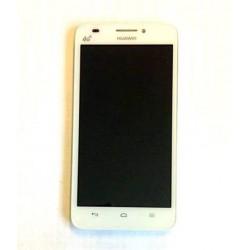 Huawei  G620 LCD Display + Dotyková Deska + Přední Kryt White