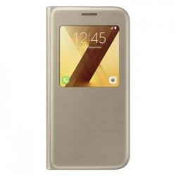 EF-CA520PFE Samsung S-View Pouzdro Gold pro Galaxy A5 2017 (EU Blister)