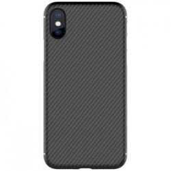 Nillkin Synthetic Fiber Ochranný Zadní Kryt Carbon Black pro iPhone X