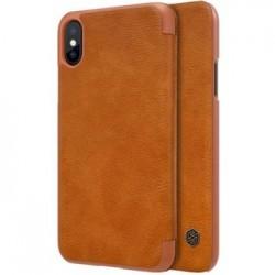 Nillkin Qin Book Pouzdro Brown pro iPhone X