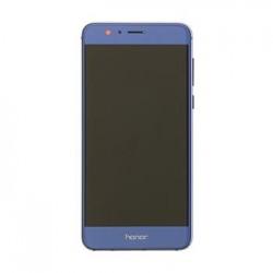 Honor 8 LCD Display + Dotyková Deska + Přední Kryt Blue (Service Pack)