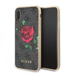 GUHCPX4GROG Guess 4G Flower Desire Zadní Kryt Grey pro iPhone X