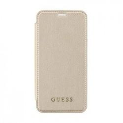 GUFLBKPXIGLTGO Guess Iridescent Book Pouzdro Gold pro iPhone X