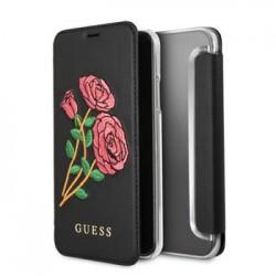 GUFLBKPXEROBK Guess Flower Desire Book Pouzdro Black pro iPhone X