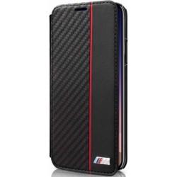 BMBKTRPXCAPRBK BMW Carbon Book Case Transparent/Black pro iPhone X
