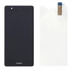 Huawei P9 LCD Display + Dotyková Deska + Přední Kryt Black (Service Pack)