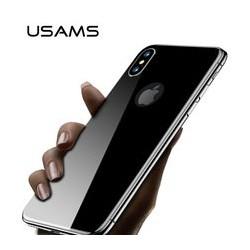 USAMS BH375 Tvrzené Sklo 0,33mm Zadní Kryt 3D Black pro iPhone X
