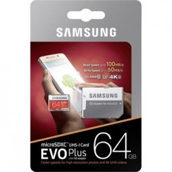 microSDXC 64GB EVO Plus Samsung Class 10 vč. Adapteru (EU Blister)