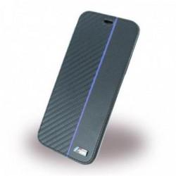 BMBKTRPXCAPNBK BMW Carbon Book Case Transparent/Navy pro iPhone X