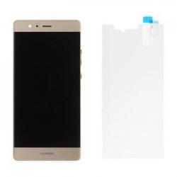 Huawei P9 LCD Display + Dotyková Deska + Přední Kryt Gold (Service Pack)