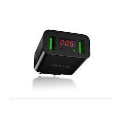 USAMS CC040 Dual USB LED Display Cestovní Dobíječ Black (EU Blister)