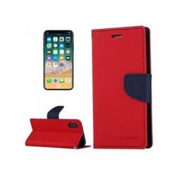Mercury Fancy Diary Pouzdro pro Samsung A530 Galaxy A8 Red/Navy