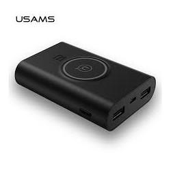USAMS US-CD31 Power Bank 8000mAh vč. Bezdrátového Dobíjení Black (EU Blister)