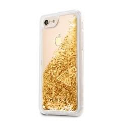 GUHCI8GLUFLGO Guess Liquid Glitter Hard Case Gold pro iPhone 7/8