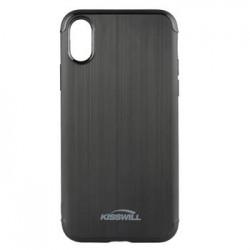 Kisswill TPU Brushed Pouzdro Black pro iPhone X