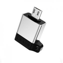 USAMS SJ187 Adapter microUSB/USB 2.0 OTG Silver (EU Blister)