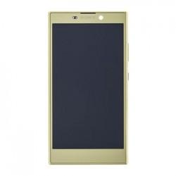LCD Display + Dotyková Deska + Přední Kryt Gold Sony H3311 Xperia L2 (Service Pack)
