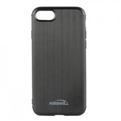Kisswill TPU Brushed Pouzdro Black pro Samsung A730 Galaxy A8 Plus