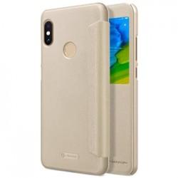 Nillkin Sparkle S-View Pouzdro Gold pro Xiaomi Redmi Note 5