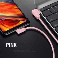 USAMS SJ167 Datový Kabel Type C U-Flow Pink (EU Blister)