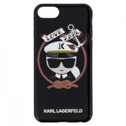 KLHCI8KSB Karl Lagerfeld Karl Sailor TPU Case Black pro iPhone 7/8