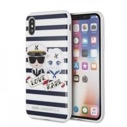 KLHCPXKSS Karl Lagerfeld Sailor Stripes TPU Case Black pro iPhone X