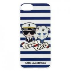KLHCI8KSS Karl Lagerfeld Sailor Stripes TPU Case Black pro iPhone 7/8