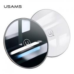 USAMS CD55 Skleněný Bezdrátový Dobíječ White (EU Blister)