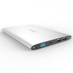 Vinsic Ultra Slim Dual Power Bank 20000mAh Silver (EU Blister)