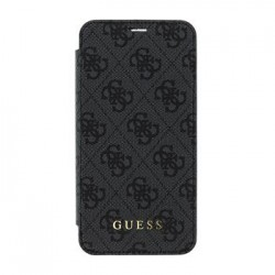 GUFLBKPXGF4GG Guess Charms Book Pouzdro 4G Grey pro iPhone X