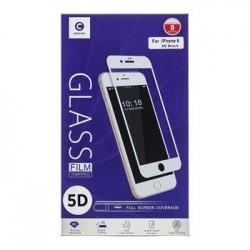 Mocolo 5D Tvrzené Sklo White pro iPhone 6/6S