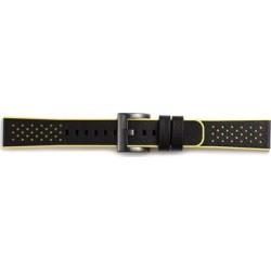GB-R600BR Samsung Gear Sport Hybrid Sport Strap Black Yellow (EU Blister)
