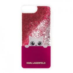 KLHCI8LPABGFU Karl Lagerfeld Peek a Boo TPU Case Glitter Fuchsia pro iPhone 7/8 Plus