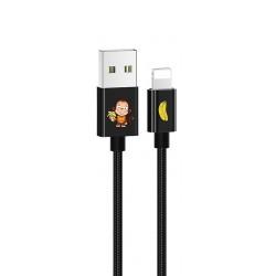 USAMS SJ234 U8 Lovely Lightning Datový Kabel Black (EU Blister)