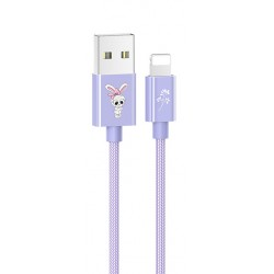 USAMS SJ234 U8 Lovely Lightning Datový Kabel Purple (EU Blister)