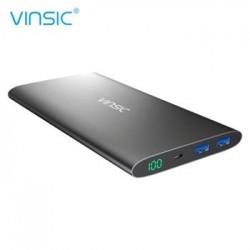 Vinsic Ultra Slim Dual Power Bank 12000mAh Black (EU Blister)