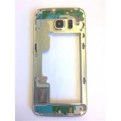 Samsung G925 Galaxy S6 Edge Střední Díl Gold OEM
